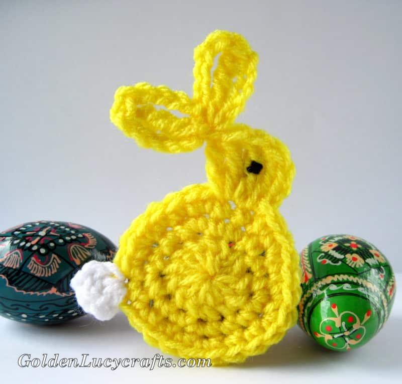 Easter Bunny Applique Crochet Pattern