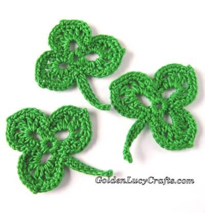 Shamrock applique free crochet pattern