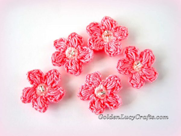 Crochet Cherry Blossom Branch