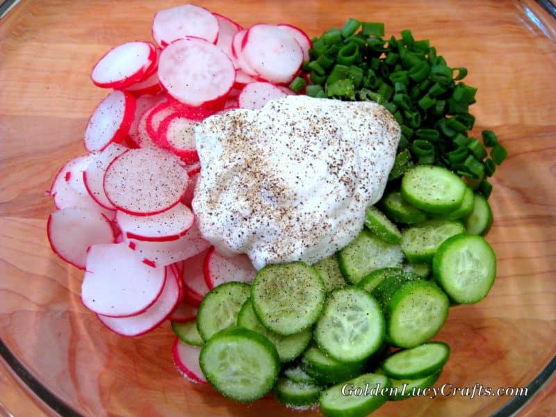Radish and Cucumber Spring Salad