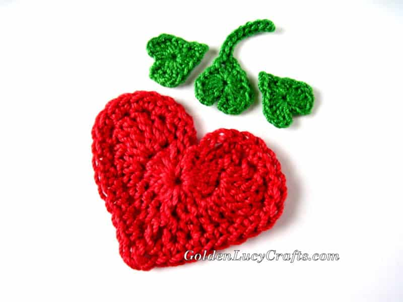 Crochet Heart Applique Small: Crochet heart bobby grateful prayer ...