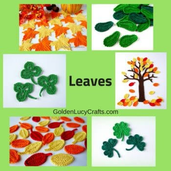 Leaves crochet ideas