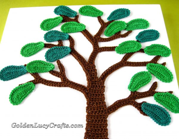 Crochet summer wall art, wall decor, wall hanging,  home decor, canvas, crochet appliques