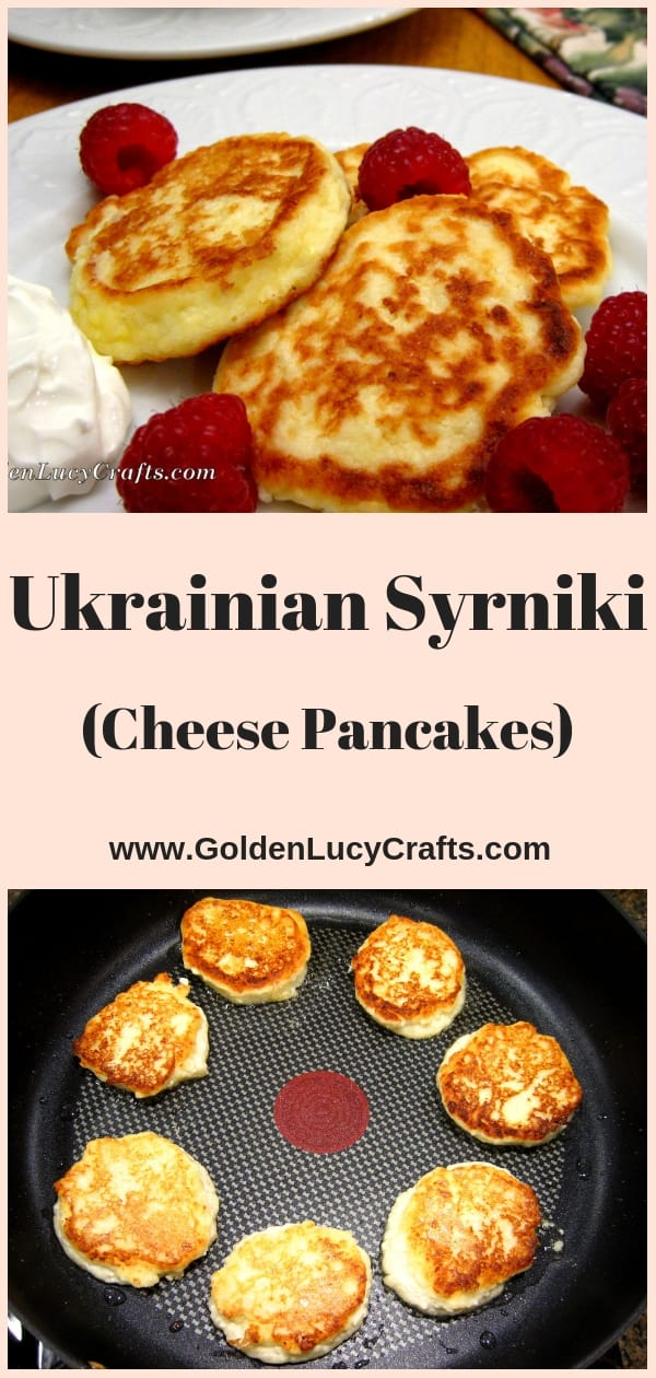 Syrniki Ukrainian cheese pancakes