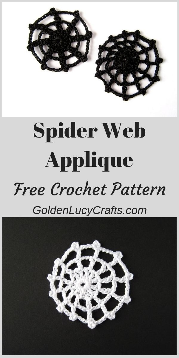 Crochet spider web, Halloween decorations