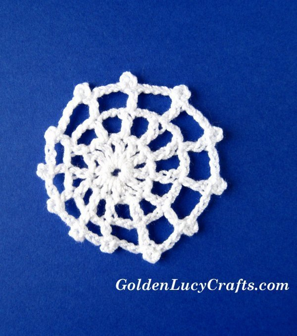 Crochet spider web Halloween decorations