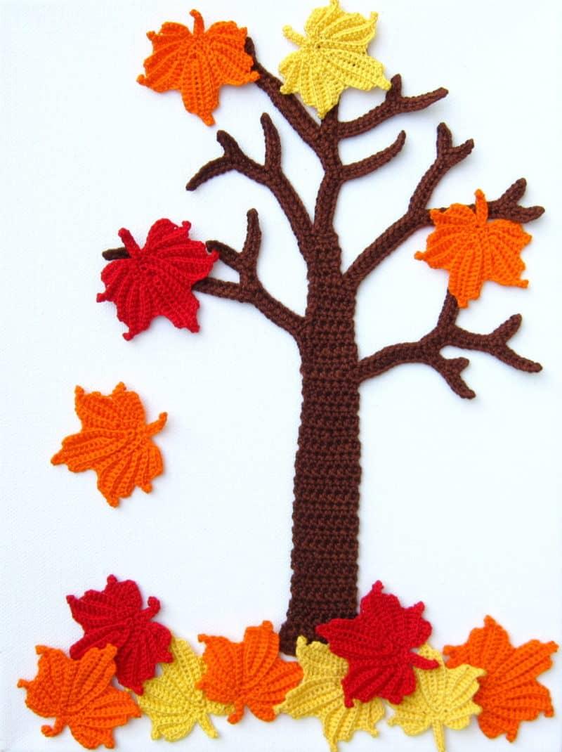 Four Seasons Crochet Wall Art