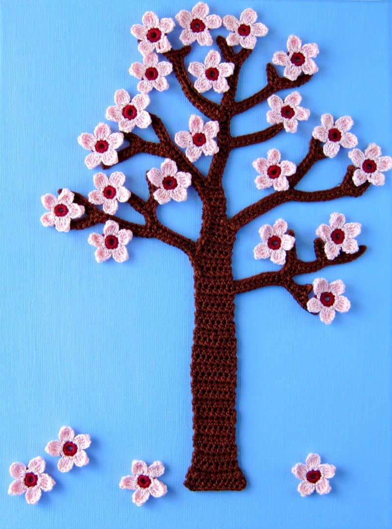 Four Seasons Crochet Wall Art