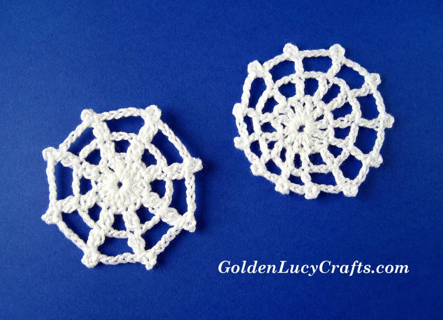 Spider Web Applique Crochet Pattern