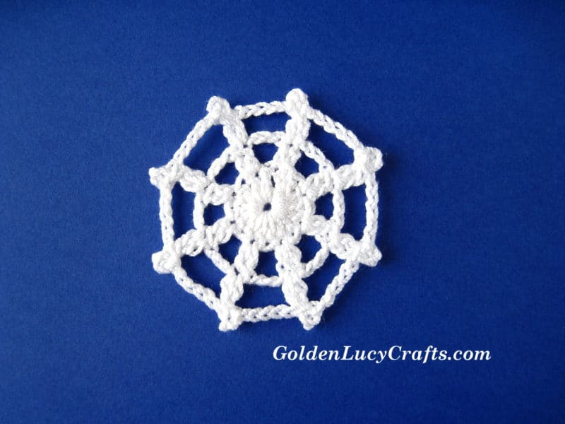 Spider Web Applique Crochet Pattern Goldenlucycrafts