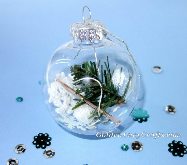 DIY Christmas Ornament gift idea for crocheters