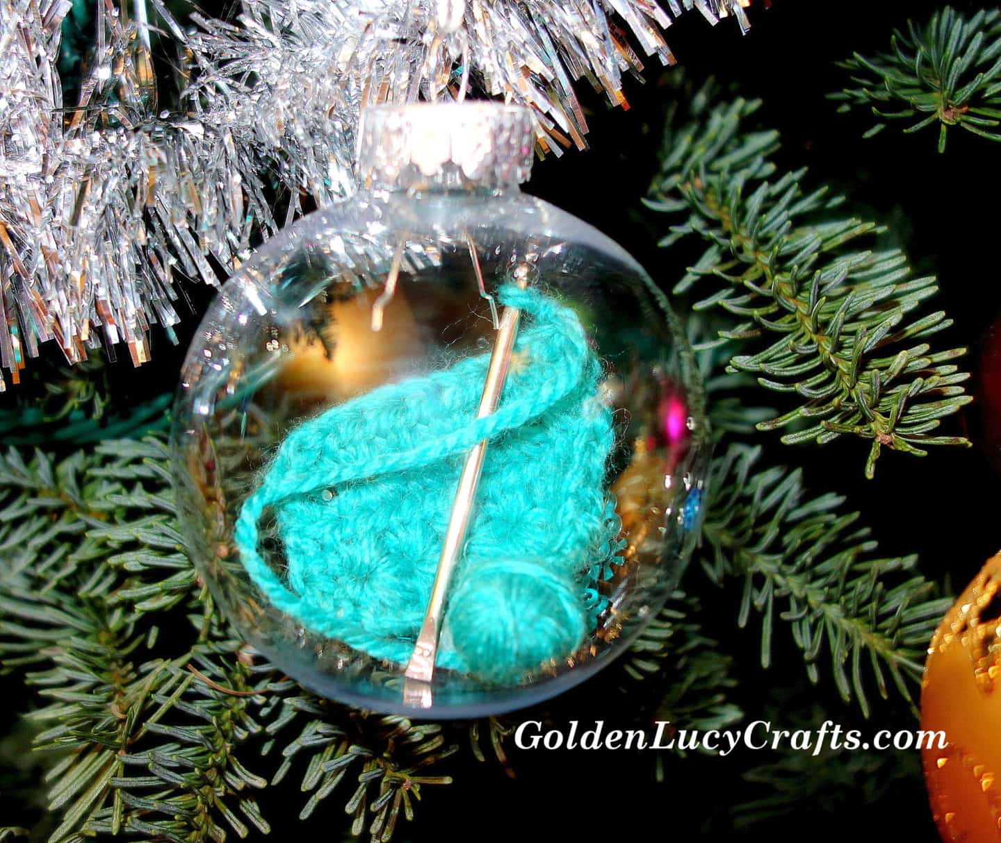 Crochet Themed Christmas Ornament