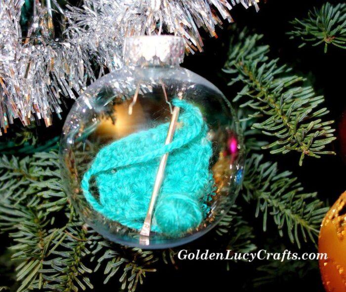 DIY Crochet Themed Christmas Ornament , gift idea for crocheters