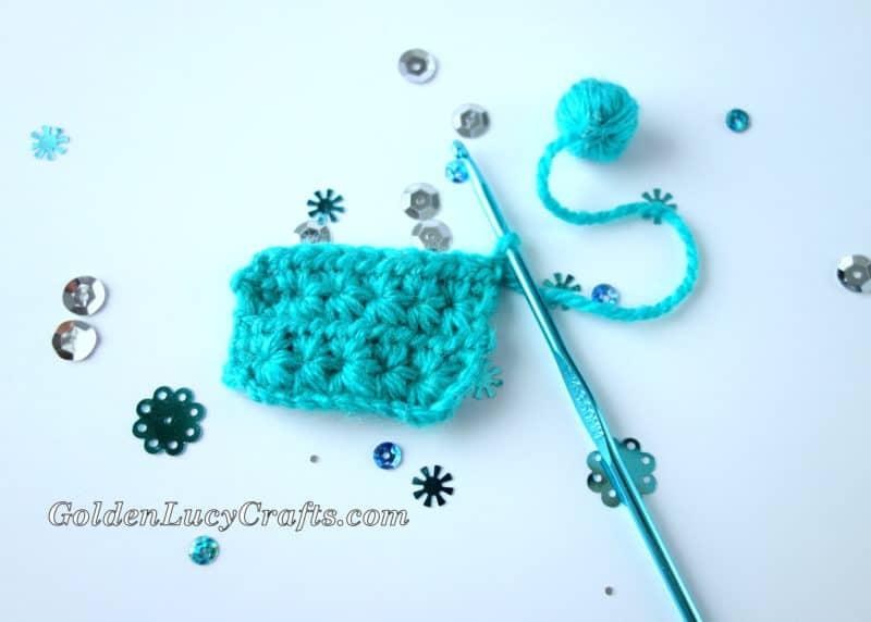 Crochet Themed Christmas Ornament