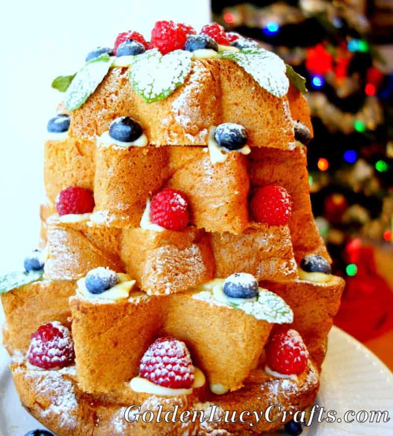 Italian Christmas Cake Pandoro Di Verona