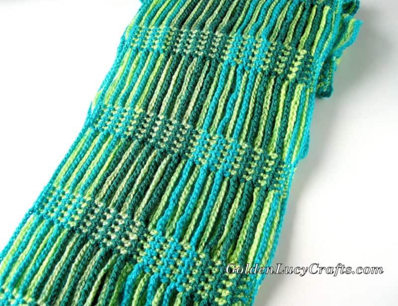 Crochet Scarf Made with Caron Cakes Yarn