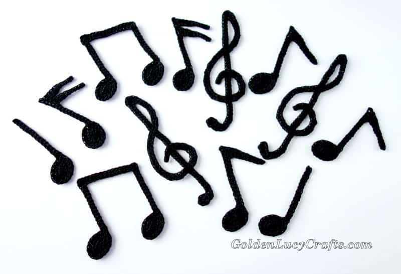 Music Notes Crochet Garland