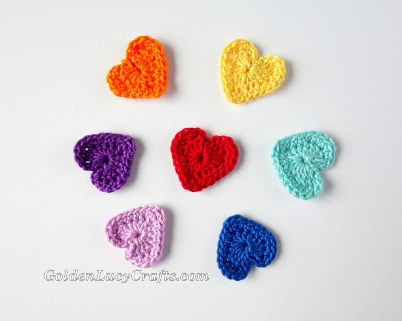 Crochet Flowers Heart Shaped Hearts Free Crochet Pattern