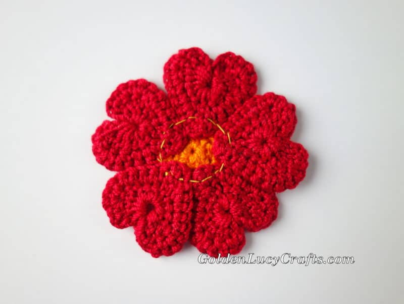 Crochet Flowers, Heart Shaped, Hearts, Free Crochet Pattern ...