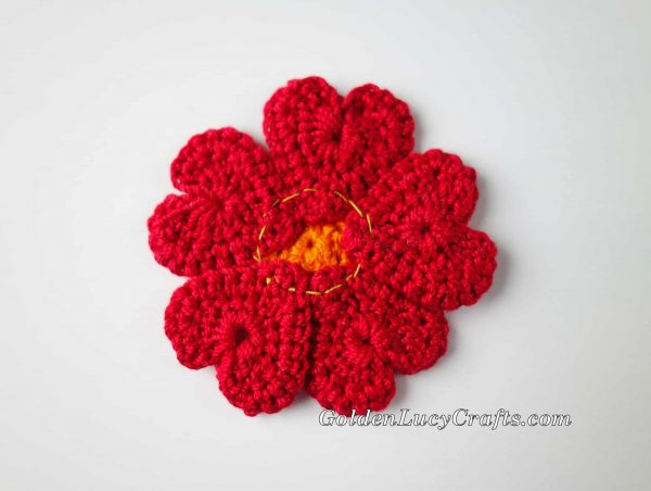 Crochet Heart Flower