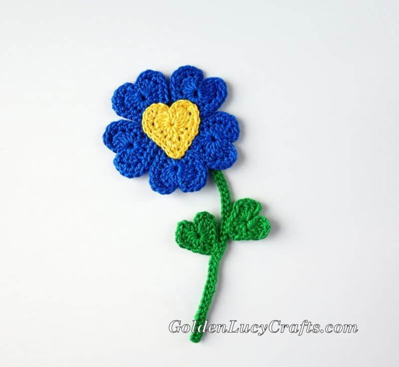 Crochet Heart Flower