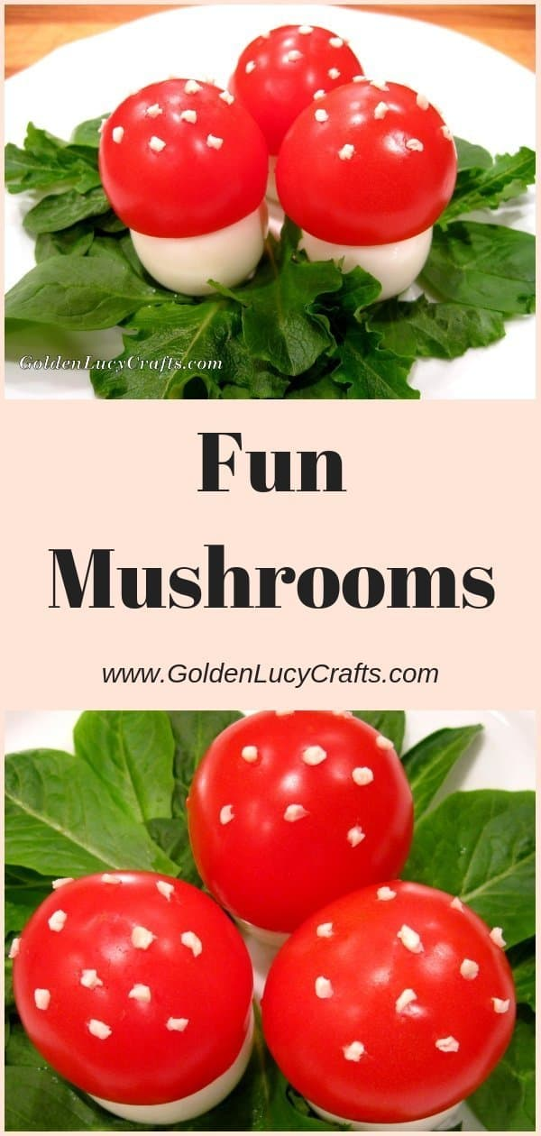 Fun mushrooms, fun food for kids, eadible fly agaric mushrooms, what to do with leftover eggs after Easter