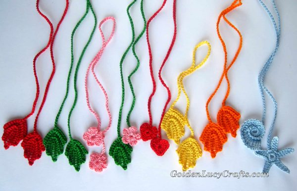 Crochet wrapping ribbons ideas