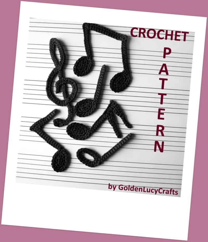 Music Notes Crochet Garland