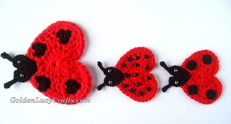 Crochet Heart Ladybug