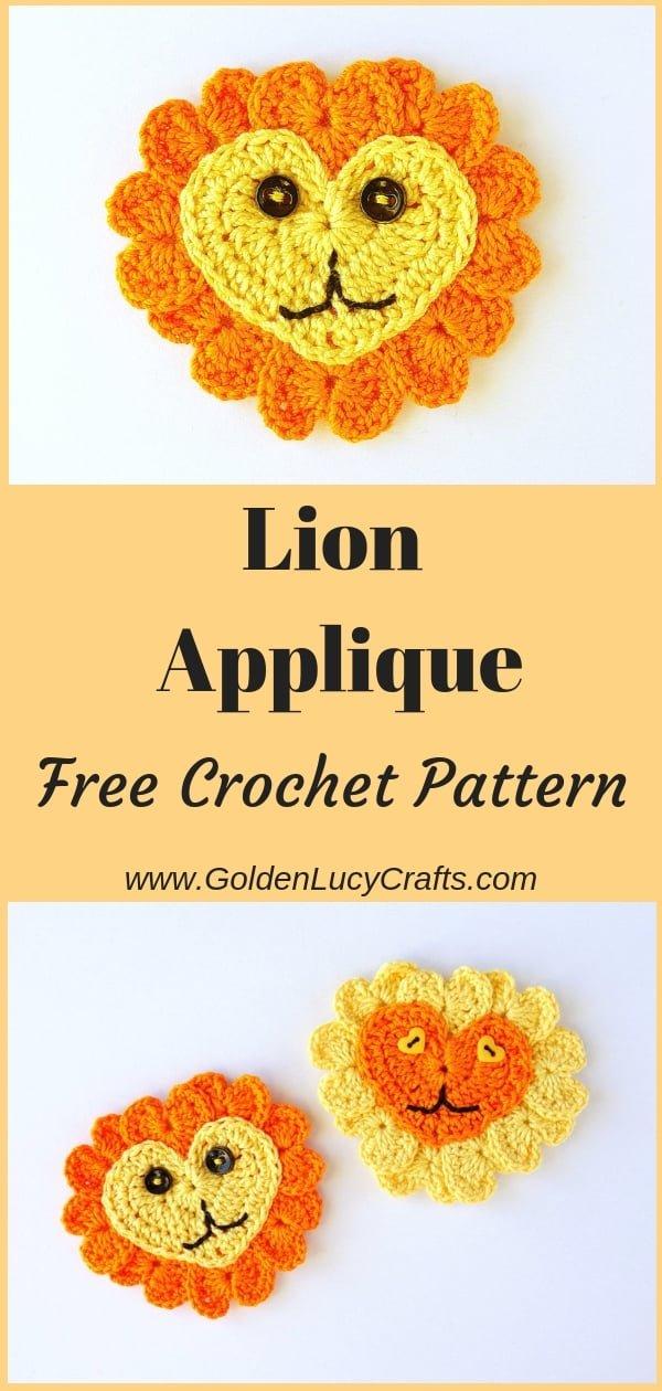 Lion crochet pattern free