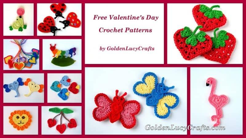 Free Valentine's Day Crochet Appliqué Patterns