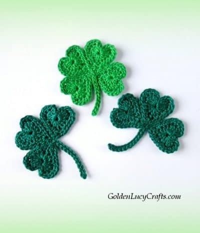Crochet shamrock and lucky clover free pattern