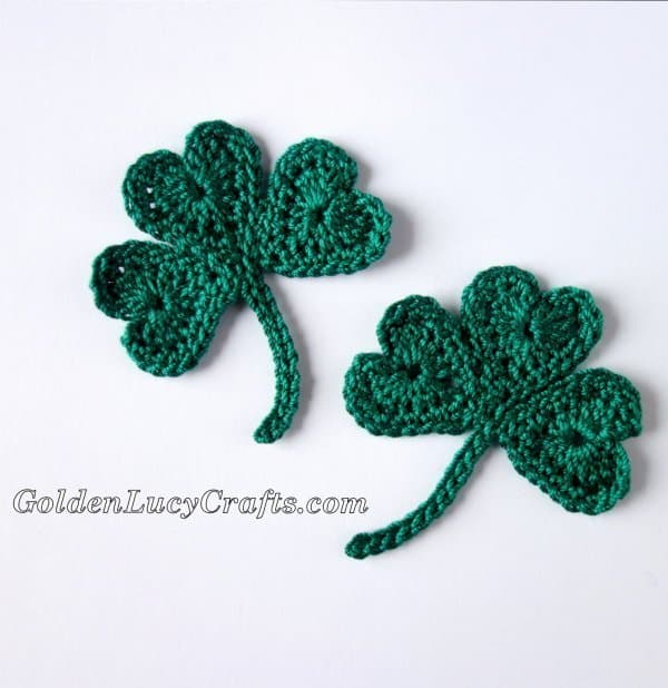 Crochet shamrock for St Patrick's Day