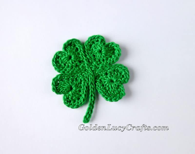 Crochet Shamrock For St Patricks Day And Lucky Clover Appliques