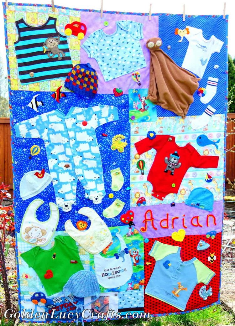 Baby Clothes Memory Quilt DIY