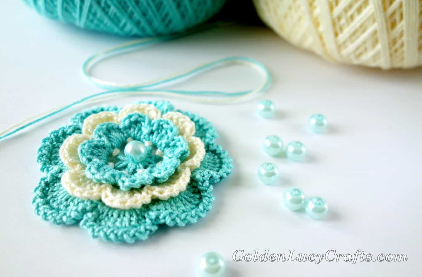 Crochet Irish Rose – Step by Step Instructions