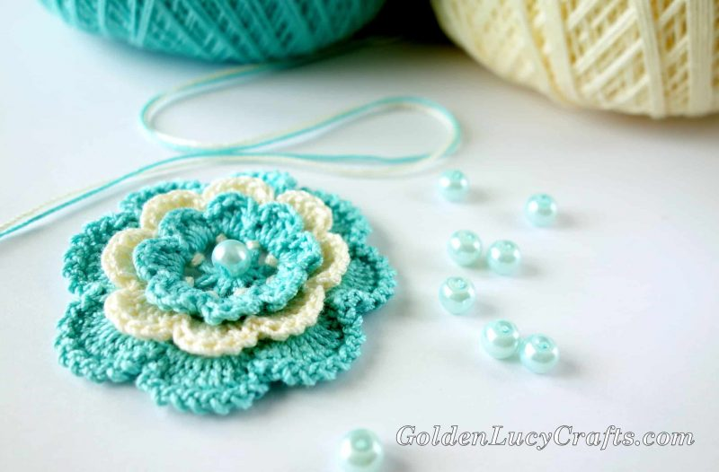 Crochet Irish Rose - Step by Step Instructions