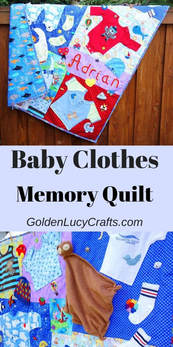 Baby clothes memory quilt, DIY, tutorial