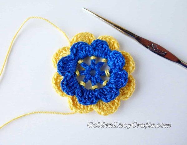 How to crochet Irish Rose - photo tutorial
