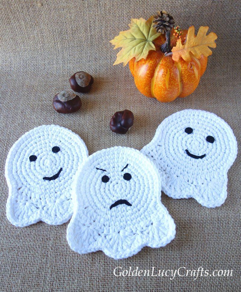 Crochet ghost, Halloween decorations idea, crochet pattern