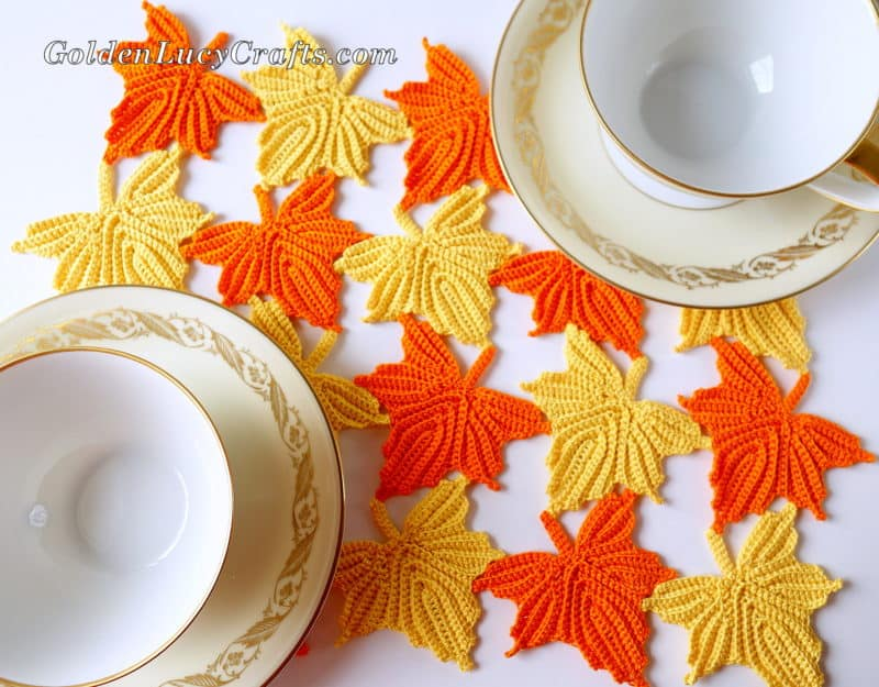 Fall Crochet Table Centerpiece
