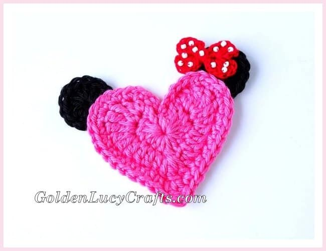 Mickey Mouse Crochet Applique