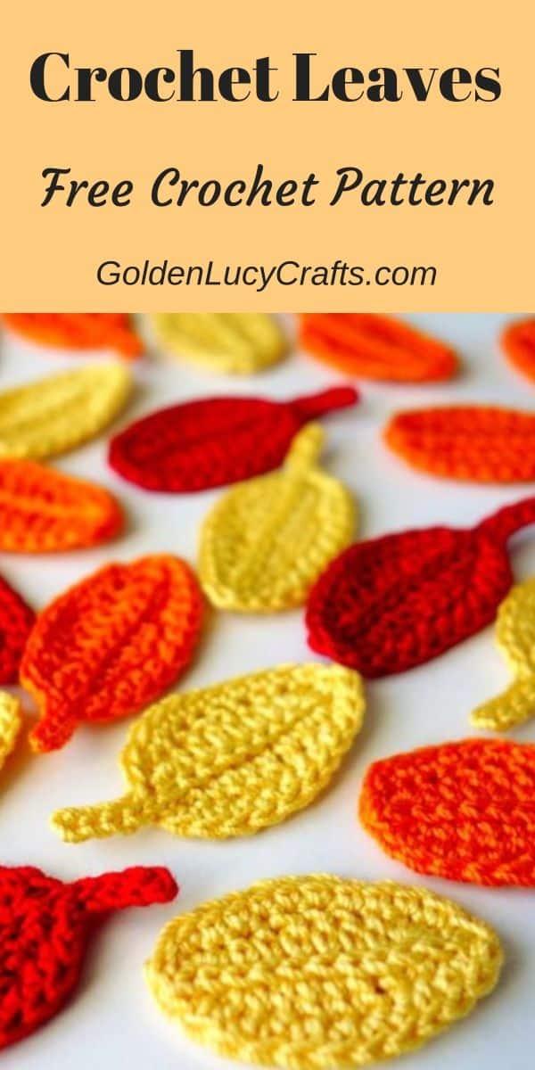 How to Crochet Easy Leaf, free crochet pattern and video tutorial, crochet projects, crochet idea, how to crochet leaf, things to crochet with cotton yarn, easy crochet project