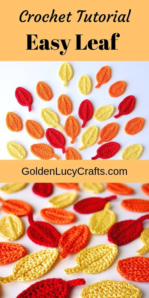 Crochet leaf free pattern, crochet easy leaf, how to crochet a leaf, leaf crochet applique, crochet fall leaves