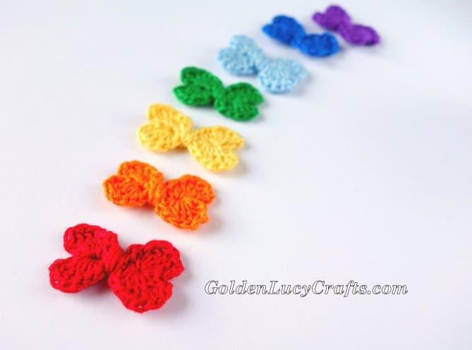 Mini Bow Crochet