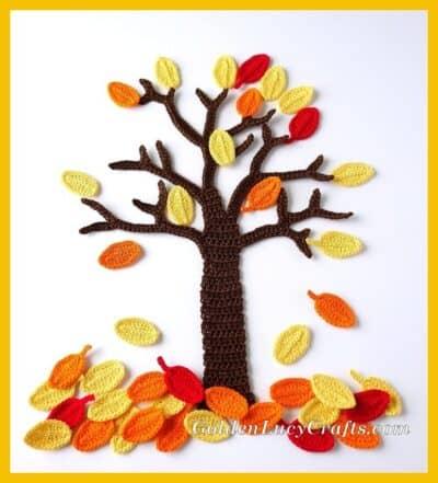 Crochet Fall tree
