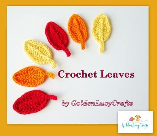 Easy Fall Crochet Leaves