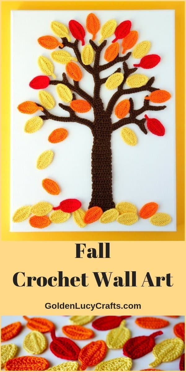 Crochet wall art idea - Fall