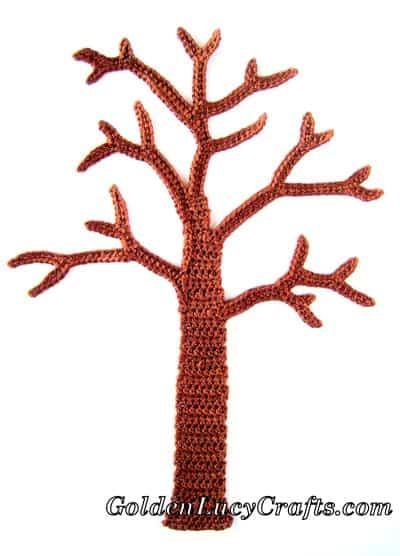 Crochet tree applique