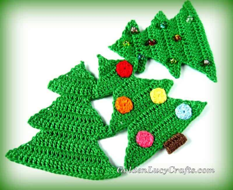 Christmas Tree Crochet Pattern Free Crochet Pattern Goldenlucycrafts